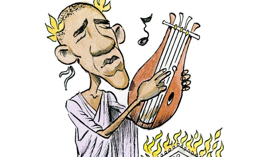 Nerobama Illustration by Alexander Hunter/The Washington Times
