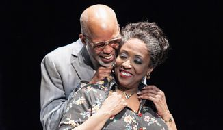 """Michael Anthony Williams portrays Elmore, and E. Faye Butler plays Ruby in August Wilson's acclaimed """"King Hedley II"""" at Arena Stage through March 8. (C. Stanley Photography)"""