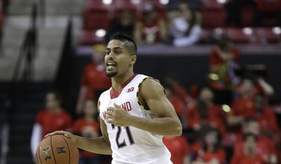 Maryland guard Varun Ram drives the ball during an NCAA college basketball game against Monmouth, Friday, Nov. 28, 2014, in College Park, Md. (AP Photo/Patrick Semansky) **FILE**
