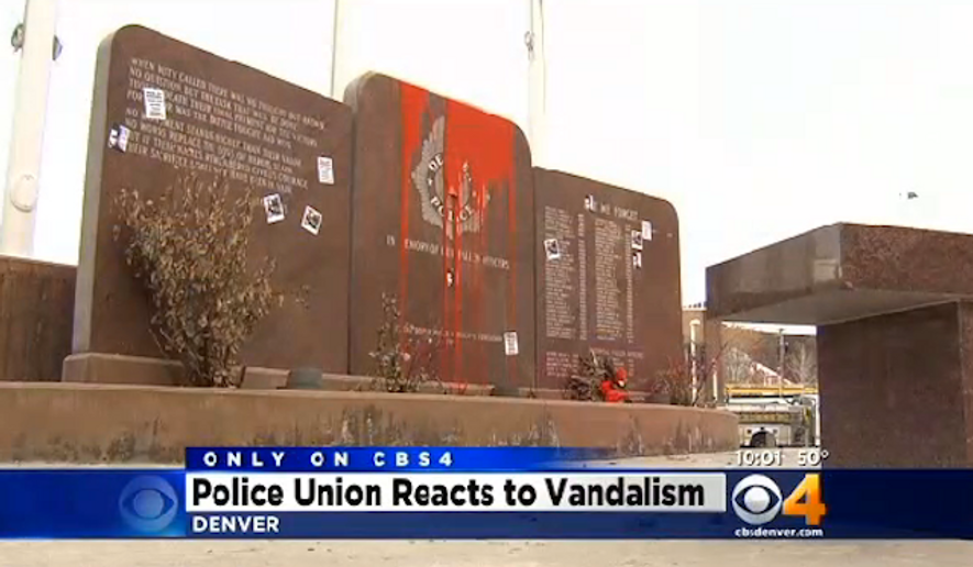 Denver Police Union President Nick Rogers is calling for Police Chief Robert White to resign after he allegedly gave officers the order to stand down as anti-police protesters desecrated a memorial for fallen officers. (CBS4)