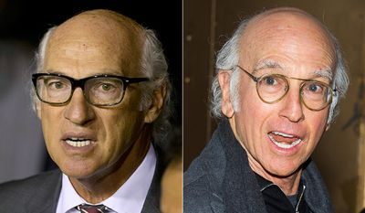 Carlos Bianchi, coach of Argentina's Boca Juniors (Soccer) and comedian Larry David (right). AP Photos