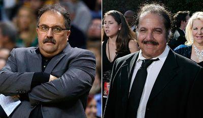 Detroit Pistons head coach Stan Van Gundy and adult film actor Ron Jeremy.