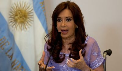 """Gerardo Pollicita has charged Argentina's President Cristina Fernandez with """"aggravated concealment"""" and a number of lesser infractions in connection with covering up a deal with Iran after the 1994 bombing of a Jewish community center. (Associated Press Photographs)"""