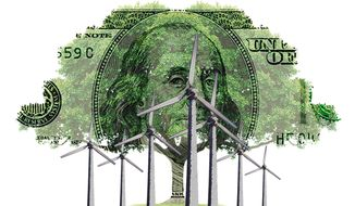 Corruption of Green Energy Illustration by Greg Groesch/The Washington Times