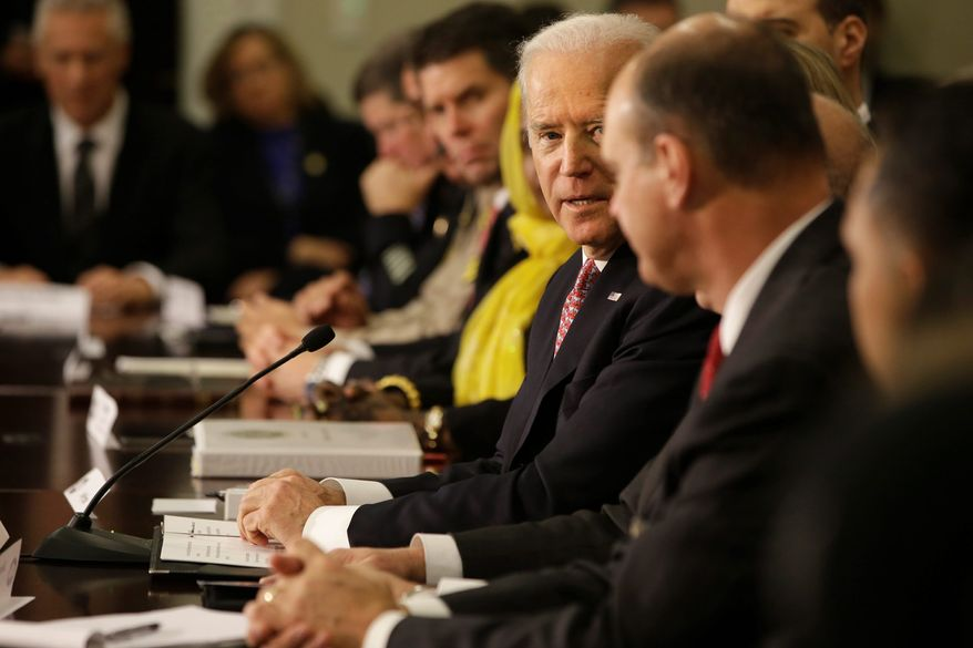 """Melding in: Vice President Joseph R. Biden opened the White House Summit on Countering Violent Extremism by saying, """"We are a nation of immigrants, and our strength is that we are a melting pot."""" (Associated Press)"""