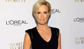 In this Dec. 2, 2014, file photo, Mika Brzezinski arrives at the Ninth Annual Women of Worth Awards in New York. (Photo by Evan Agostini/Invision/AP, File)