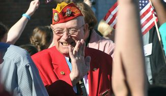 "LIVING HISTORY: Hershel ""Woody"" Williams, the last surviving Medal of Honor recipient from Iwo Jima, will help mark the 70th anniversary after prodding from his grandchildren."