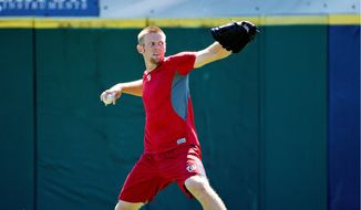 Nationals pitchers Stephen Strasburg was among the early arrivals to Viera, Florida on Wednesday for the start of spring training. (Associated Press)
