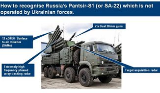 Russian SA-22 surface-to-air missile systems have been spotted in Ukraine. (Image: U.K. Delegation, NATO)