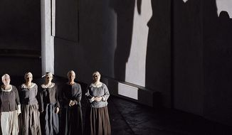 "Francis Poulenc's ""Dialogues of the Carmelites,"" currently running at the Kennedy Center, is set during the French Revolution, when Carmelite nuns were guillotined for refusing to renounce their faith. (Washington National Opera)"
