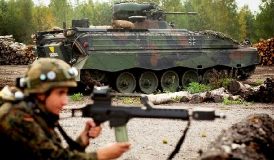 German soldiers train during a NATO exercise. (Image: Deutsches Heer)