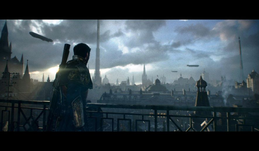 "This photo provided by Sony Computer Entertainment America LLC shows a scene from the video game, ""The Order: 1886"" (Sony, for PlayStation 4, $59.99), in which Sir Galahad defends an alternate version of Victorian London. (AP Photo/Sony Computer Entertainment America LLC)"