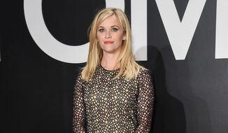 Reese Witherspoon arrives at the Tom Ford Autumn/Winter 2015 Womenswear Presentation at Milk Studios on Friday, Feb. 20, 2015, in Los Angeles. (Photo by Rob Latour/Invision/AP) ** FILE **