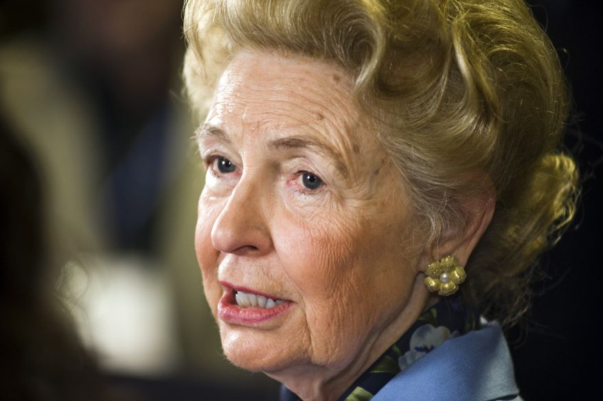 Conservative activist Phyllis Schlafly says reviving a strong, self-sufficient family culture is the only way out of the nation's financial mess. (Associated Press)