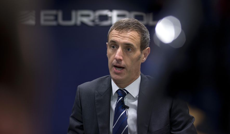 "Europol's director Rob Wainwright said as many as 2,500 European-born fighters are likely to be in ""various stages of returning"" to the continent after joining the Islamic State terrorist group in Iraq and Syria. (Associated Press/File)"