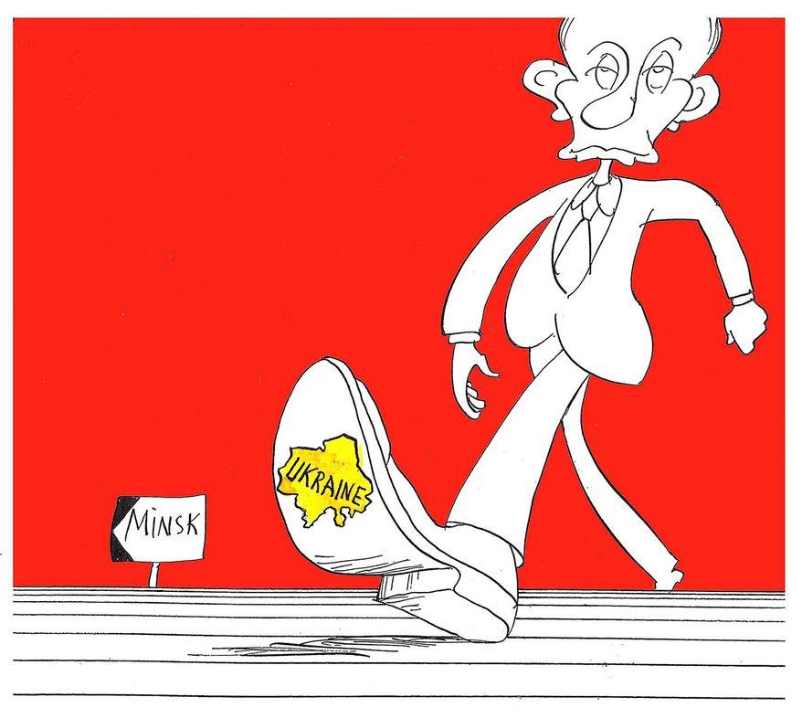 Vladimir Putin            Cartoon by Herb, Dagningen, Lillehammer, Norway/CartoonArts International