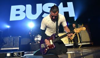 "Gavin Rossdale, who had a successful solo career, said of Bush, ""I felt there was unfinished business. It felt like the band never broke up as much as it just slipped apart."" Bush re-formed in 2010 with Mr. Rossdale and original drummer Robin Goodridge, joined by two new members. (Associated Press)"