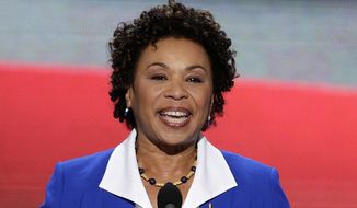 Rep. Barbara Lee, D-Calif., speaks at the Democratic National Convention in Charlotte, N.C., in Sept. 4, 2012. (AP Photo/J. Scott Applewhite, File)