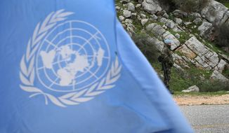 A United Nations flag (AP Photo/Hussein Malla)