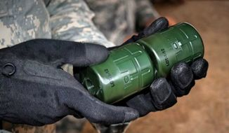 The Scalable Offensive Hand Grenade. (Image: Army Expeditionary Warrior Experiments, Facebook)