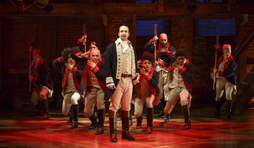 """Hamilton"" at the Kennedy Center has inspired Marcel's to offer a pre-theater menu and transportation to the show. (Associated Press/File)"
