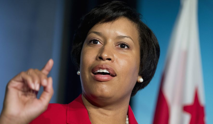 D.C. Mayor Muriel Bowser speaks to reporters during a news conference at the National Press Club in Washington on Nov. 5, 2014, a day after being elected mayor. (Associated Press) ** FILE **
