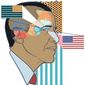 Illustration on Obama's attitude toward America by Linas Garsys/The Washington Times