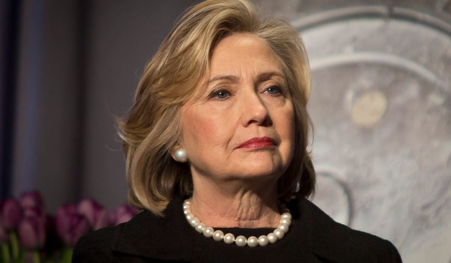 Hillary Rodham Clinton, as secretary of state, said Libya was in imminent danger of a humanitarian crisis — her main argument for going to war. U.S. intelligence couldn't corroborate her warning and lost key sources with the fall of the Gadhafi regime. (Associated Press)