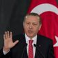 Turkish President Recep Tayyip Erdogan is pushing a bill that would allow for arbitrary searches and detentions without charges. (Associated Press)