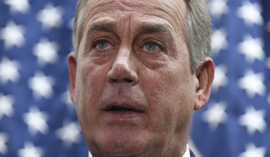 House Speaker John A. Boehner ultimately relied on Democrats to pass the legislation, sending a bill to Mr. Obama's desk that provided $40 billion to fund the Department of Homeland Security for the rest of the fiscal year without restricting the president's immigration actions. (Associated Press)