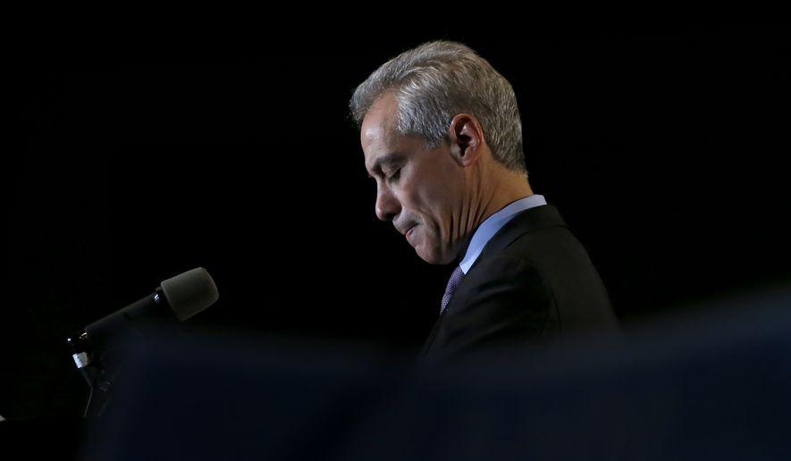Chicago Mayor Rahm Emanuel. (AP Photo/Charles Rex Arbogast)