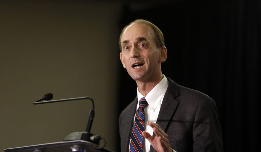"Missouri Auditor Tom Schweich announces his candidacy for governor in St. Louis in this Jan. 28, 2015, file photo. He fatally shot himself in what police described as an ""apparent suicide,"" minutes after inviting reporters to his suburban St. Louis home for an interview. (AP Photo/Jeff Roberson, File)"