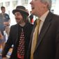 Blogger Eric Golub and Stephen Moore of the Heritage Foundation share a laugh (Photo by Judson Phillips)