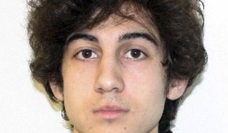 "FILE - This file photo released Friday, April 19, 2013 by the Federal Bureau of Investigation shows Boston Marathon bombing suspect Dzhokhar Tsarnaev.  The trial of Boston Marathon bombing suspect Tsarnaev can stay in Massachusetts, a federal appeals court ruled Friday, Feb. 27, 2015. A three-judge panel of the 1st U.S. Circuit Court of Appeals said any high-profile case would receive significant media attention but that knowledge of such case ""does not equate to disqualifying prejudice."" (AP Photo/Federal Bureau of Investigation, File)"
