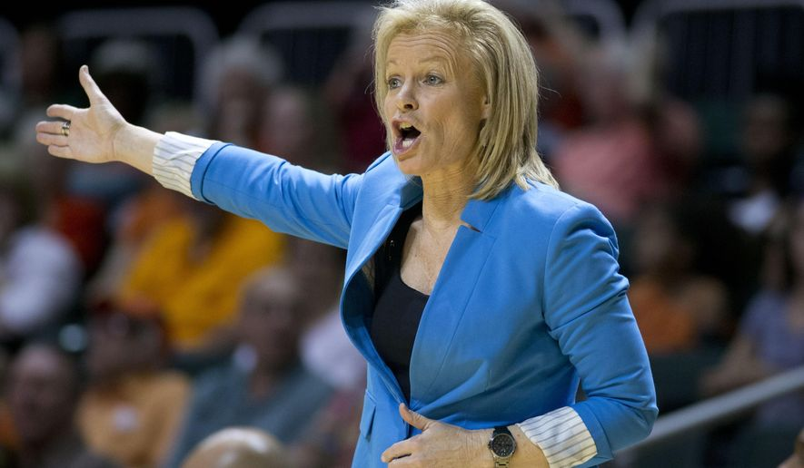 Florida State coach Sue Semrau yells instructions to her team during the first half of an NCAA college basketball game against Miami in Coral Gables, Fla., Sunday, March 1, 2015. (AP Photo/J Pat Carter)
