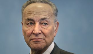 United States Sen. Chuck Schumer, D-N.Y., participates in a news conference about Homeland Security funding in New York, Monday, March 2, 2015. (AP Photo/Seth Wenig) ** FILE **
