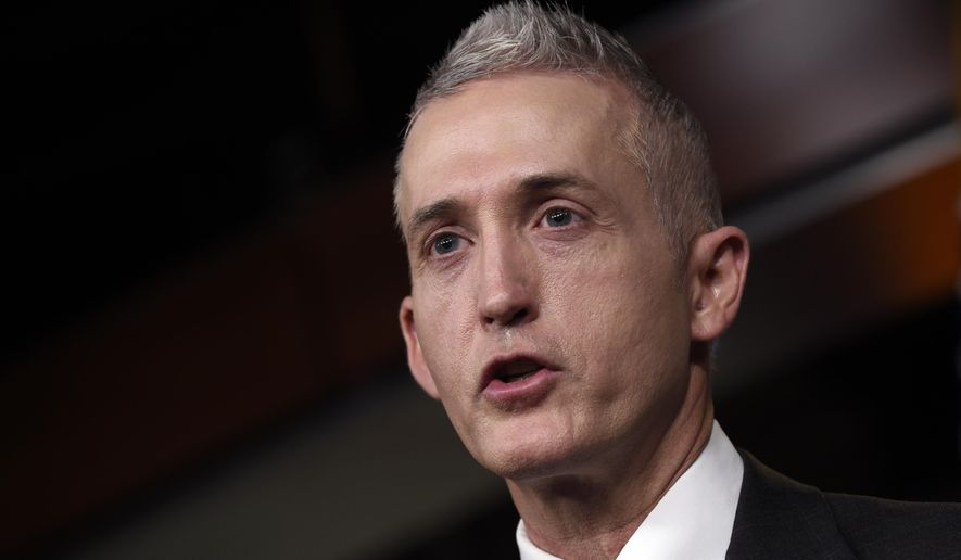 House Select Committee on Benghazi Chairman Rep. Trey Gowdy, R-S.C., speaks at a news conference on Capitol Hill in Washington, Tuesday, March 3, 2015, about former Secretary of State Hillary Rodham Clinton using her personal email account for official business. (AP Photo/Susan Walsh) ** FILE **