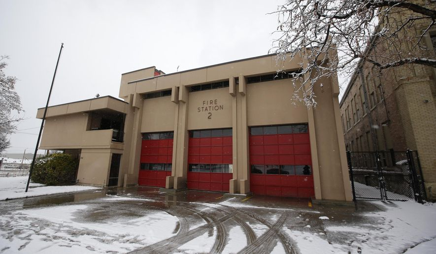 This Tuesday, March 3, 2015, file photo shows Fire Station 2 in Salt Lake City after an early morning fire in a second-floor utility room at the building. (AP Photo/Rick Bowmer) ** FILE **