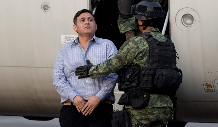 """Mexican authorities apprehended a man identified as Omar Trevino Morales, aka """"Z-42,"""" leader of the Zetas drug cartel. (Associated Press)"""