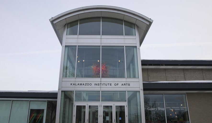 This Feb. 25, 2015 photo shows the Kalamazoo Institute of Art in Kalamazoo, Mich. The institute will host a rededication ceremony of its Kirk Newman Art School on Friday, March 6, 2015 to celebrate Newman's contributions to the arts community and to announce a major gift to the school from Rosemary and John Brown. (AP Photo/Kalamazoo Gazette-MLive Media Group, Crystal Vander Weit) ALL LOCAL TELEVISION OUT; LOCAL TELEVISION INTERNET OUT