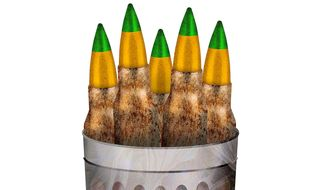 Ammo in Obama's Trash Can Illustration by Greg Groesch/The Washington Times