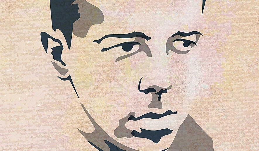 Stanton Evans Portrait Illustration by Greg Groesch/The Washington Times