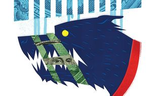 Muzzling the Government Watchdog Illustration by Linas Garsys/The Washington Times