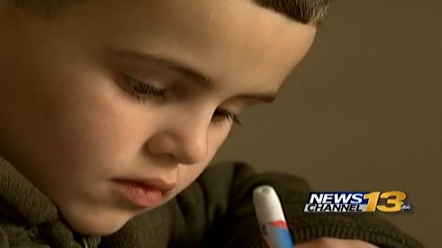 """A 6-year-old Colorado boy named Elijah was suspended from Stratton Meadows Elementary School in Colorado Springs on Monday after he pointed his finger in the shape of a gun at another classmate and said, """"You're dead."""" (KRDO)"""
