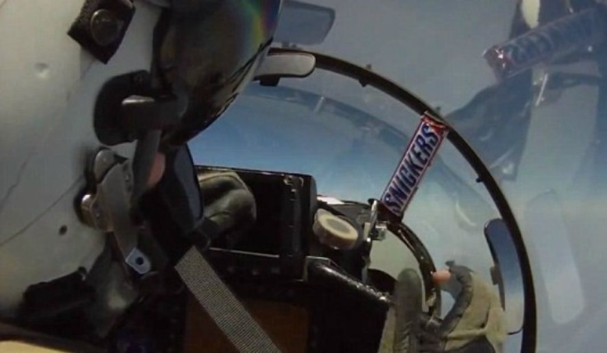 """How to Pass Snacks to the Rear Seat of a Fighter Jet"" has acquired over 55,000 page views on YouTube in less than two days. (Image: YouTube, CKD0003)"