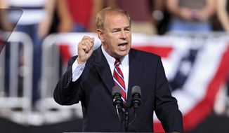 Democrats have recruited former Ohio Gov. Ted Strickland to run against Sen. Rob Portman. (Associated Press)