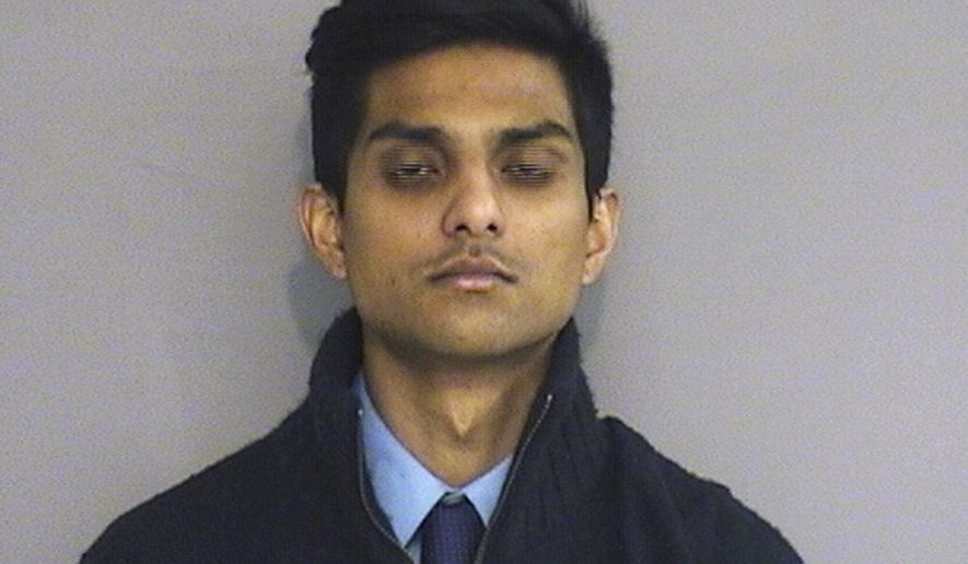 This booking photo provided by the Middletown Police Department shows Wesleyan University student Abhimanyu Janamanchi, 21, of Rockville, Md., arrested Friday, March 6, 2015, on drug charges stemming from on-campus overdoses that sent a dozen people to the hospital the weekend of Feb. 22. (AP Photo/Middletown Police Department)
