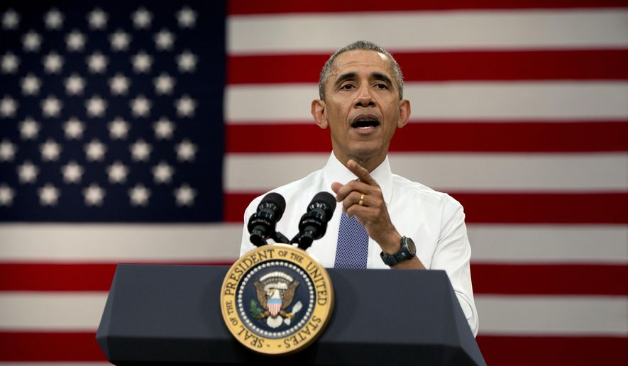 President Barack Obama speaks before he participates in a town-hall meeting at Benedict College, Friday, March 6, 2015, in Columbia, S.C., about the importance of community involvement. (AP Photo/Carolyn Kaster)