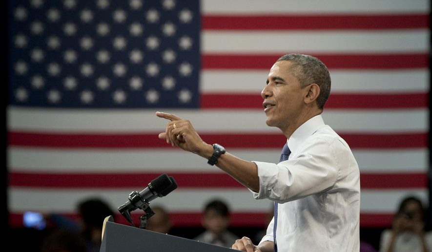President Barack Obama speaks during a town-hall meeting at Benedict College, Friday, March 6, 2015, in Columbia, S.C., about the importance of community involvement. (AP Photo/Carolyn Kaster)