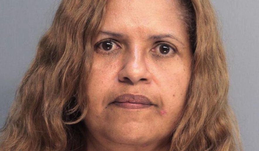FILE- In this May 2014 booking photo provided by the Clarkstown, N.Y., Police Department Diana Nadell is shown. Nadell of Cutler Bay, Fla., pleaded guilty Friday, March 6, 2015, to first-degree murder for the Jan. 24, 2014 murder of her 80 year old mother-in-law, Peggy Nadell. She also admitted plotting to kill two witnesses. (AP Photo/Clarkstown Police Department, File)